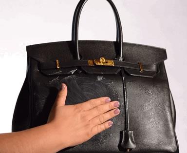 Cleaning Luxury Handbag Step 2