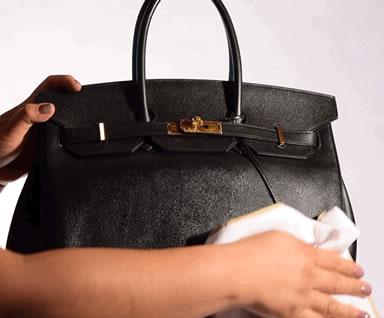 Cleaning Luxury Handbag Step 3